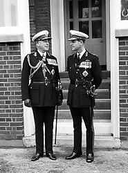 File photo dated 27/10/65 of The Duke of Edinburgh (right) in uniform as Captain General of the Royal Marines pictured with his uncle, Admiral of the Fleet, Earl Mountbatten of Burma at the Royal Marines Barracks, Eastney near Portsmouth. The Duke of Edinburgh has died, Buckingham Palace has announced. Issue date: Friday April 9, 2020.. See PA story DEATH Philip. Photo credit should read: PA Wire