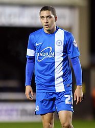 Peterborough United's Hogan Ephairm - Photo mandatory by-line: Joe Dent/JMP - Tel: Mobile: 07966 386802 09/11/2013 - SPORT - FOOTBALL - London Road Stadium - Peterborough - Peterborough United v Exeter City - FA Cup - First Round