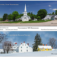 Bookmark - 7x2 Double Sided Full Color. Canterbury Center and Canterbury Shaker Village.