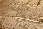 Petroglyph panel at the White Mountain site in the Red Desert of Wyoming