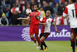 (L-R) Juanmi of Real Sociedad de Futbol, Karim El Ahmadi of Feyenoord during the pre-season friendly match between Feyenoord Rotterdam and Real Sociedad at the Kuip on July 29, 2017 in Rotterdam, The Netherlands