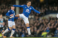 Aaron Lennon (Everton) watches as his shot is saved during the Barclays Premier League match between Everton and Newcastle United at Goodison Park, Liverpool, England on 3 February 2016. Photo by Mark P Doherty.