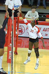 19 November 2010: Hailey Kelley during an NCAA volleyball match between the Sycamores of Indiana State and the Illinois State Redbirds at Redbird Arena in Normal Illinois.