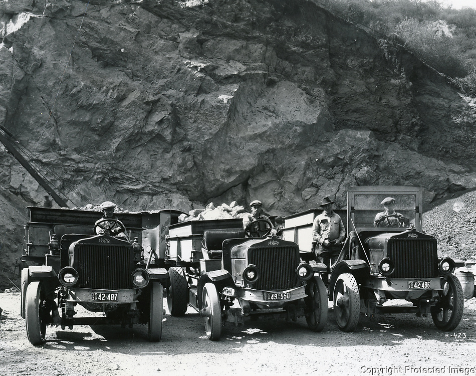 1925 The Union Rock Quarry, in Brush Canyon, which later became the Bronson Caves at the northern end of Bronson Ave.