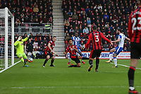 Football - 2017 / 2018 FA Cup - Third Round : AFC Bournemouth vs. Wigan Athletic<br /> <br /> Will Grigg of Wigan Athletic taps in from close range to open the scoring at Dean Court (Vitality Stadium) Bournemouth <br /> <br /> COLORSPORT/SHAUN BOGGUST