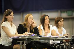 Judges at European Cheerleading Championship 2008, on July 5, 2008, in Arena Tivoli, Ljubljana, Slovenia. (Photo by Vid Ponikvar / Sportal Images).
