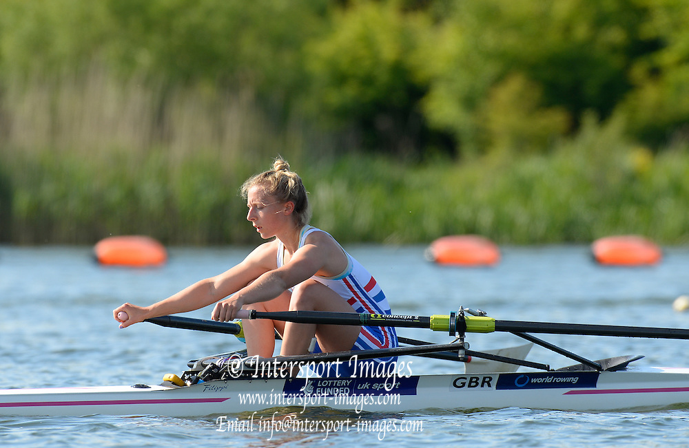 Caversham, Great Britain, Katherine COPELAND,  GB Rowing media day, 2013 World Cup Team Announcement  at the Redgrave Pinsent Rowing Lake. GB Rowing Training centre. Wednesday  05/06/2013  [Mandatory Credit. Peter Spurrier/Intersport Images]