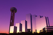 Image of the Dallas Skyline at dusk with Reunion Tower, Dallas, Texas, American South by Randy Wells