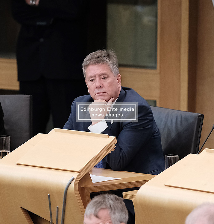 First Minister's Questions in the Scottish Parliament<br /> <br /> Thursday, 19th September 2019<br /> <br /> Pictured: Keith Brown MSP<br /> <br /> Alex Todd   Edinburgh Elite media