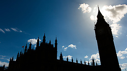 Silhouette of Big Ben, England, UK. 12/05/14. Photo by Andrew Tallon