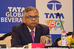 July 5, 2018 - Kolkata, West Bengal, India - Chairman of Tata Sons. Natarajan Chandrasekaran address at the Annual General Meeting or AGM of Tata Global Beverages. (Credit Image: © Saikat Paul/Pacific Press via ZUMA Wire)