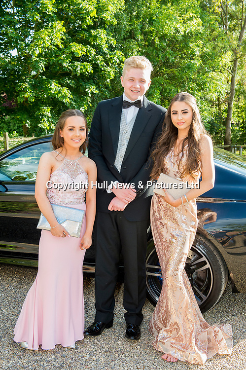 21 JUne 2019: Louth Academy Year 11 Prom at Brackenborough Hotel.<br /> (L-r) Lily Holmes, Jack Bowler, Lilli Smith. <br /> Picture: Sean Spencer/Hull News & Pictures Ltd<br /> 01482 210267/07976 433960<br /> www.hullnews.co.uk         sean@hullnews.co.uk