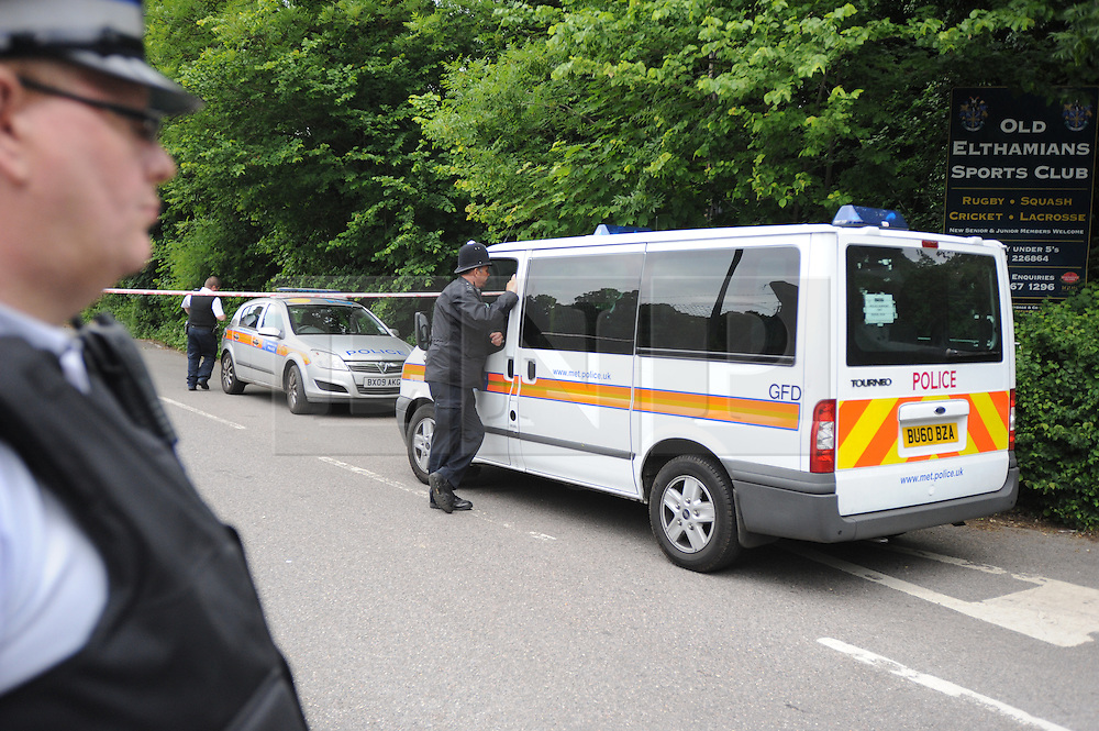 © Licensed to London News Pictures. 09/06/2013<br /> More police arrive at Darul Uloom School (this evening 09.06.2013) in Chislehurst, Kent.<br /> Suspicious Islamic school fire Chislehirst, Kent.<br /> Police were called to Darul Uloom School, Foxbury Avenue,Chislehurst, Kent  at 11.50pm on Saturday (08.06.2013)<br /> Photo credit :Grant Falvey/LNP