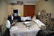Chambre des jeunes mariés au musée du Famous Blacksmiths Shop de Gretna Green / Newly-weds bedroom at the Famous Blacksmiths Shop Museum in Gretna Green