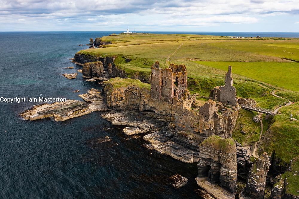 Castle Sinclair Girnigoe on coast at Wick, Caithness, Scotland, UK