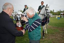 Team Ireland winning the Nations Cup <br /> Lynch Denis, Duffy Alx, Breen Shane, Twomey Billy, chef d'equipe Splaine Robert abd Mr Buchmann Jacky (president KBRSF)<br /> CSIO Lummen 2010<br /> © Dirk Caremans