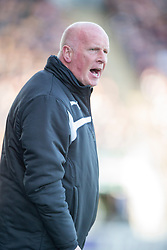 Falkirk's manager Peter Houston. <br /> Falkirk 0 v 3 Hearts, Scottish Championship game played 21/3/2015 at The Falkirk Stadium.