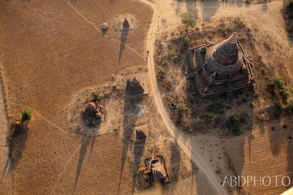 Bagan ancient city Kingdom of Pagan temples and pagodas Burma (Myanmar)
