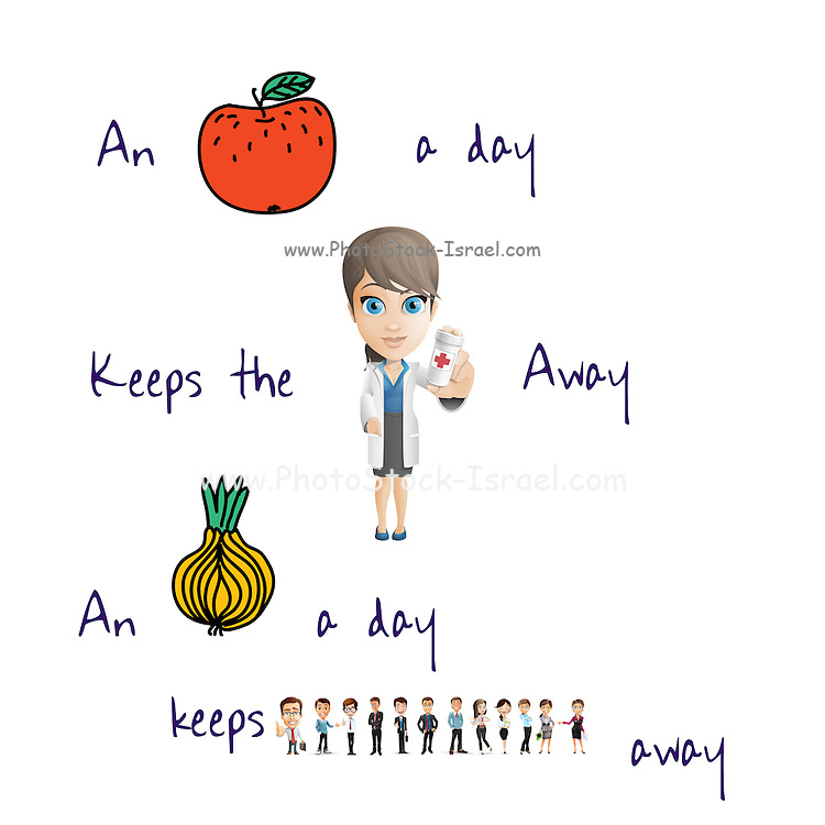 Famous humourous quotes series: An apple a day keeps the doctor away, but an onion a day keeps everyone away