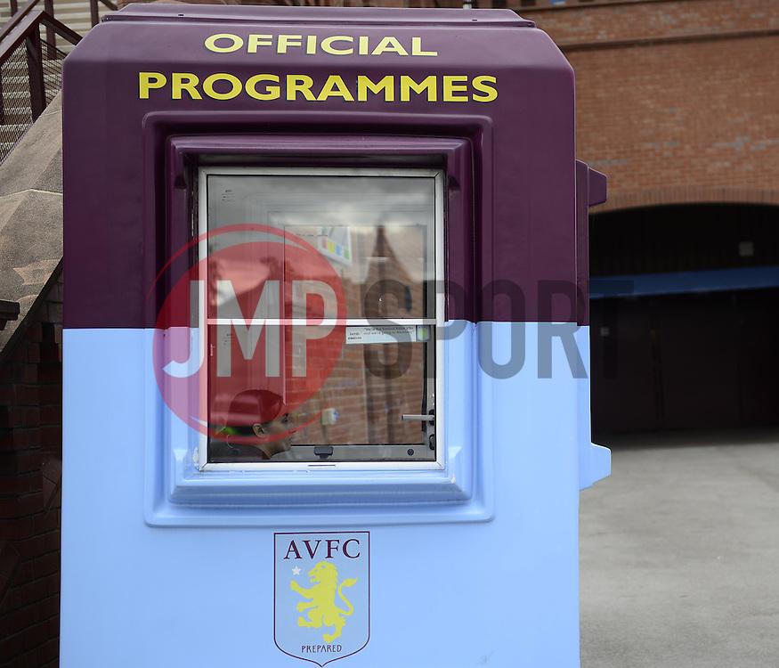 A Programme Seller - Photo mandatory by-line: Joe Meredith/JMP - Mobile: 07966 386802 23/08/2014 - SPORT - FOOTBALL - Birmingham - Villa Park - Aston Villa v Newcastle United - Barclays Premier League