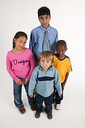 Multiracial group of youngsters,