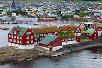 Iles Feroe, Ile de Streymoy, Torshavn, quartier de Tinganes dans la vieille ville // Torshavn, Faroe Islands