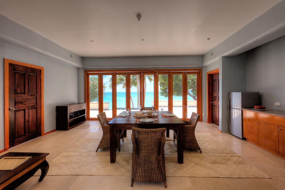 Interior Shot of Living/Dining Room in Hotel Room, Fiji