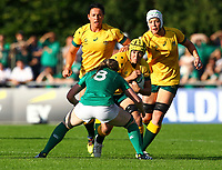 Rugby Union - 2017 Women's Rugby World Cup (WRWC) - Pool C: Ireland vs. Australia<br /> <br /> Australia's Shannon Parry in action against Ireland's Heather O'Brien , at the UCD Bowl, Dublin.<br /> <br /> COLORSPORT/KEN SUTTON