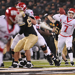 Oct 23, 2009; West Point, N.Y., USA; Rutgers quarterback Tom Savage (7) throws a pass during Rutgers' 27 - 10 victory over Army at Michie Stadium.