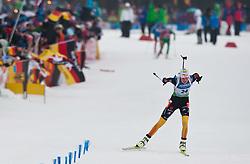 11.03.2012, Chiemgau Arena, Ruhpolding, GER, IBU, Biathlon Weltmeisterschaft, Massenstart Damen, im Bild Tina Bachmann (GER) // Tina Bachmann (GER) during the Mass Start Women of the IBU Biathlon World Championship at Chiemgau Arena, Ruhpolding, Germany on 2012/03/11. EXPA Pictures © 2012, PhotoCredit: EXPA/ Juergen Feichter