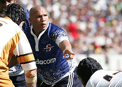 Ricky Januarie during the Festival of Rugby match between The Boland Cavaliers and The Stormers held at The Cape Town Stadium (formerly Green Point Stadium) in Cape Town, South Africa on 6 February 2010.  This is the first match/event to be held at the new stadium which was purpose built to host matches during the FIFA World Cup South Africa 2010.Photo by: Ron Gaunt/SPORTZPICS