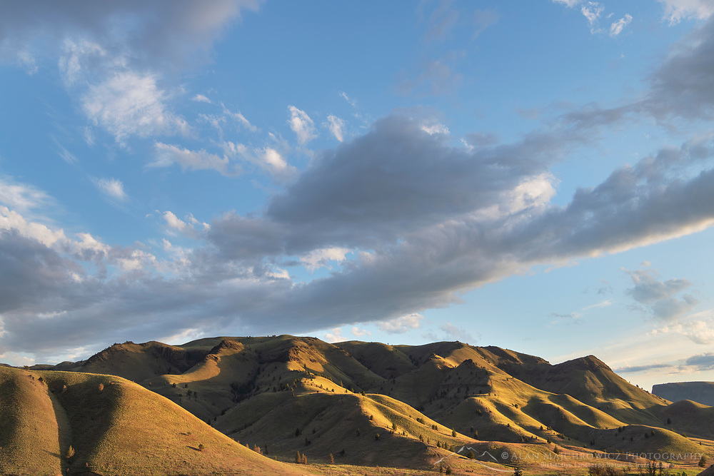 Evening clouds over Clarno Unit of John Day Fossil Beds National Monument Oregon