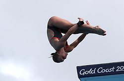England's Robyn Birch competes in the Women's 10m Platform Preliminary at the Optus Aquatic Centre during day eight of the 2018 Commonwealth Games in the Gold Coast, Australia.