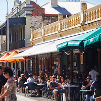 Sunday morning on the Fremantle Café Strip, South Terrace