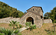 Pictures & images of Ubisa St. George Georgian Orthodox medieval monastery, 1141, Georgia (country)<br /> <br /> Ubisa St. George was founded by St. Grigol (Gregory) of Khandzta under the patronage of King of Abkhazs Demetre II. The church is a single nave with a single apse above the altar. .<br /> <br /> Visit our MEDIEVAL PHOTO COLLECTIONS for more   photos  to download or buy as prints https://funkystock.photoshelter.com/gallery-collection/Medieval-Middle-Ages-Historic-Places-Arcaeological-Sites-Pictures-Images-of/C0000B5ZA54_WD0s<br /> <br /> Visit our REPUBLIC of GEORGIA HISTORIC PLACES PHOTO COLLECTIONS for more photos to browse, download or buy as wall art prints https://funkystock.photoshelter.com/gallery-collection/Pictures-Images-of-Georgia-Country-Historic-Landmark-Places-Museum-Antiquities/C0000c1oD9eVkh9c