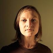 Annie Claflin self portrait in her apartment, Boston, MA. May 2008.