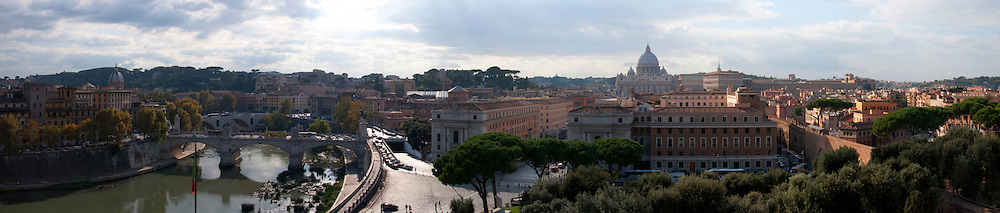 A panorama taken from the top of Castle Saint'angelo.