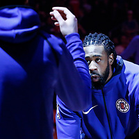31 December 2017: LA Clippers center DeAndre Jordan (6) is seen during the players introduction prior to the LA Clippers 106-98 victory over the Charlotte Hornets, at the Staples Center, Los Angeles, California, USA.