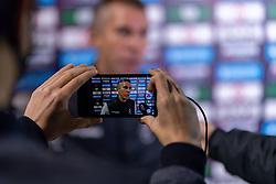 Interim Manager Gary Probert speaks to Press after the final whistle of the match  - Mandatory by-line: Ryan Hiscott/JMP - 14/11/2020 - FOOTBALL - Twerton Park - Bath, England - Bristol City Women v Tottenham Hotspur Women - Barclays FA Women's Super League