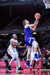 NORMAL, IL - January 06: Sara Rhine lifts for a lay up during a college women's basketball game between the ISU Redbirds and the Drake Bulldogs on January 06 2019 at Redbird Arena in Normal, IL. (Photo by Alan Look)