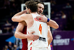 Pau Gasol of Spain and Semih Erden of Turkey during basketball match between National Teams of Spain and Turkey at Day 11 in Round of 16 of the FIBA EuroBasket 2017 at Sinan Erdem Dome in Istanbul, Turkey on September 10, 2017. Photo by Vid Ponikvar / Sportida