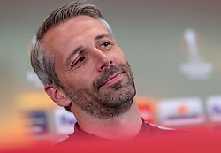 02.05.2018, Red Bull Arena, Salzburg, AUT, UEFA EL, FC Salzburg vs Olympique Marseille, Halbfinale, Rueckspiel, Pressekonferenz, im Bild Trainer Marco Rose (FC Salzburg) // Coach Marco Rose (FC Salzburg) during Pressconference before the UEFA Europa League Semifinal, 2nd Leg Match between FC Salzburg and Olympique Marseille at the Red Bull Arena in Salzburg, Austria on 2018/05/02. EXPA Pictures © 2018, PhotoCredit: EXPA/ JFK