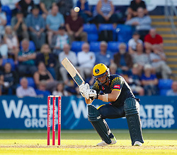Glamorgan's Craig Meschede lets a bouncer go over the top<br /> <br /> Photographer Simon King/Replay Images<br /> <br /> Vitality Blast T20 - Round 8 - Glamorgan v Gloucestershire - Friday 3rd August 2018 - Sophia Gardens - Cardiff<br /> <br /> World Copyright © Replay Images . All rights reserved. info@replayimages.co.uk - http://replayimages.co.uk