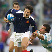 Francois Trinh-Duc, France, in action during the Argentina V France test match at Estadio Jose Amalfitani, Buenos Aires,  Argentina. 26th June 2010. Photo Tim Clayton....