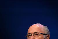 Fotball<br /> Foto: EQ Images/Digitalsport<br /> NORWAY ONLY<br /> <br /> Zuerich, 30.5.2015, Fussball - PK Joseph Blatterr, Joseph Blatter spricht einen Tag nach seiner Wiederwahl zum FIFA Praesidenten an einer Medienkonferenz zu den Medien.