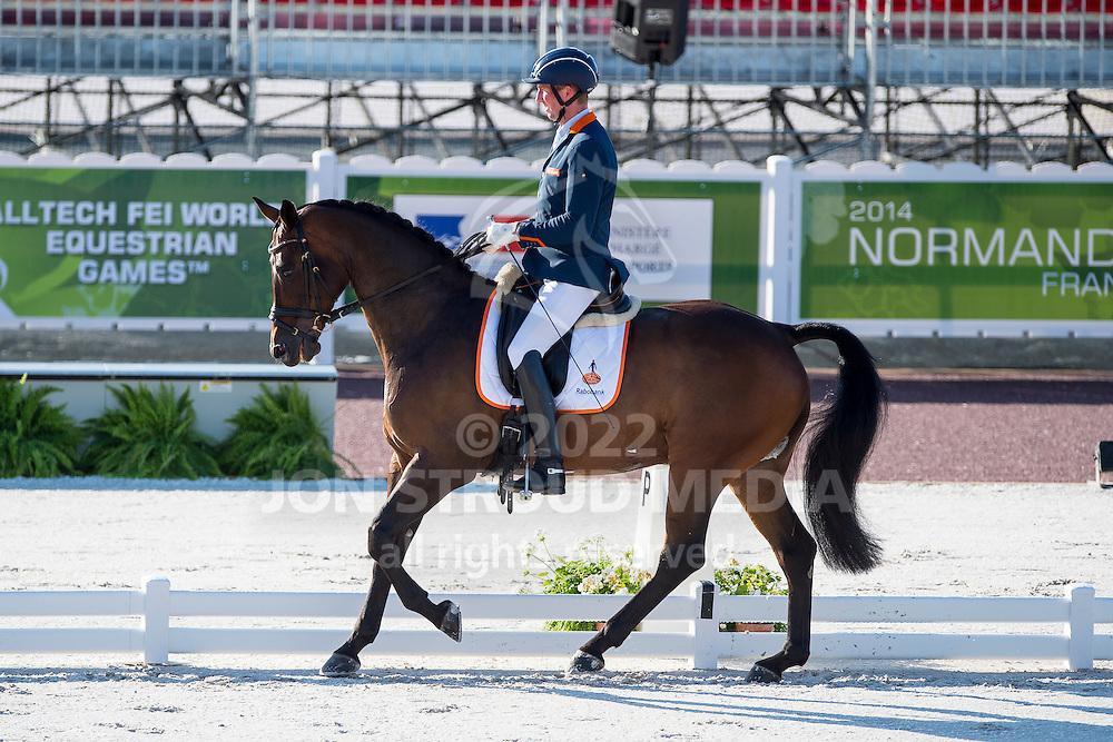 Frank Hosmar, (NED), Alphaville - Team Competition Grade IV Para Dressage - Alltech FEI World Equestrian Games™ 2014 - Normandy, France.<br /> © Hippo Foto Team - Jon Stroud <br /> 25/06/14