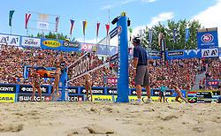 06-08-2011 VOLLEYBAL: FIVB WORLD TOUR GRANDSLAM: KLAGENFURT<br /> Match Maria Antonelli (BRA), Talita Antunes (BRA), Marleen Van Iersel (NED) und Sanne Keizer (NED)<br /> ©2011-FotoHoogendoorn.nl / Erwin Scheriau