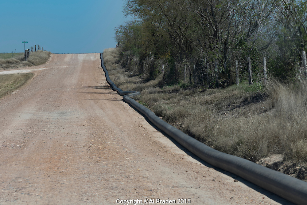 Above Ground Lines, Oil and Gas Fracking, Eagle Ford Shale Area, Texas