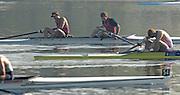 Hazenwinkel, BELGIUM,  M2-, Bow, Robin BOURNE TAYLOR and Alistair HEATHCOTE in the B final,  at the GB Rowing Senior Trials, on Mon 16.04.2007  [Credit, Peter Spurrier/Intersport-images]   [Mandatory Credit, Peter Spurier/ Intersport Images]. , Rowing Course, Bloso, Hazewinkel. BELGUIM