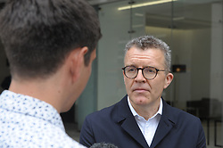 Tom Watson, Deputy Leader of the Labour Party and Shadow Culture Secretary arrives at the  Labour Party  London HQ. Outside he was questioned by reporters on whether Labour was now a remain party.<br /> <br /> Richard Hancox   EEm 09072019